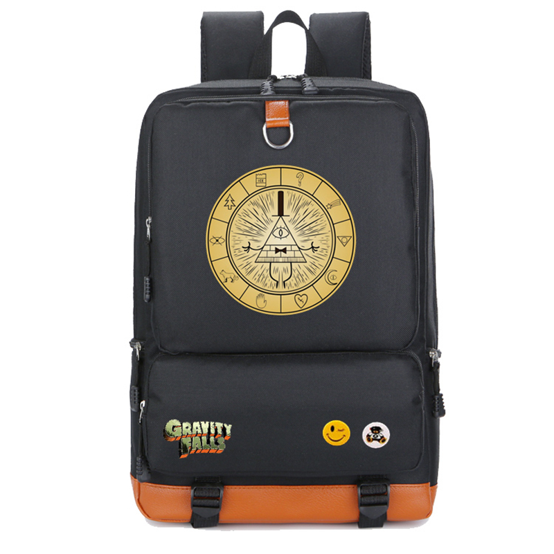 New Gravity Falls Backpack Casual Backpacks Teenagers School bag Men Women's Student School Bags travel Shoulder Bag Laptop Bags new vintage backpack canvas men shoulder bags leisure travel school bag unisex laptop backpacks men backpack mochilas armygreen
