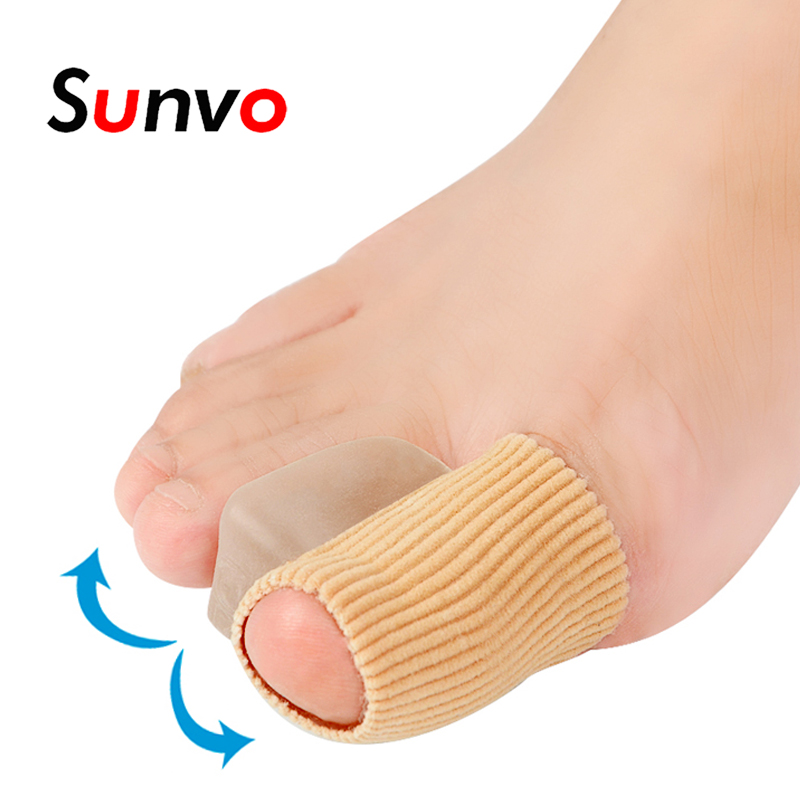 Sunvo Silicone Gel Hallux Valgu Pads for Toes Separator Toe Corns Foot Pain Relief Pads Bunion Overlapping Orthopedic Inserts 1pc big toe separator foot care tool separators stretchers foot pads adjustable hallux valgus orthopedic insoles pain relief