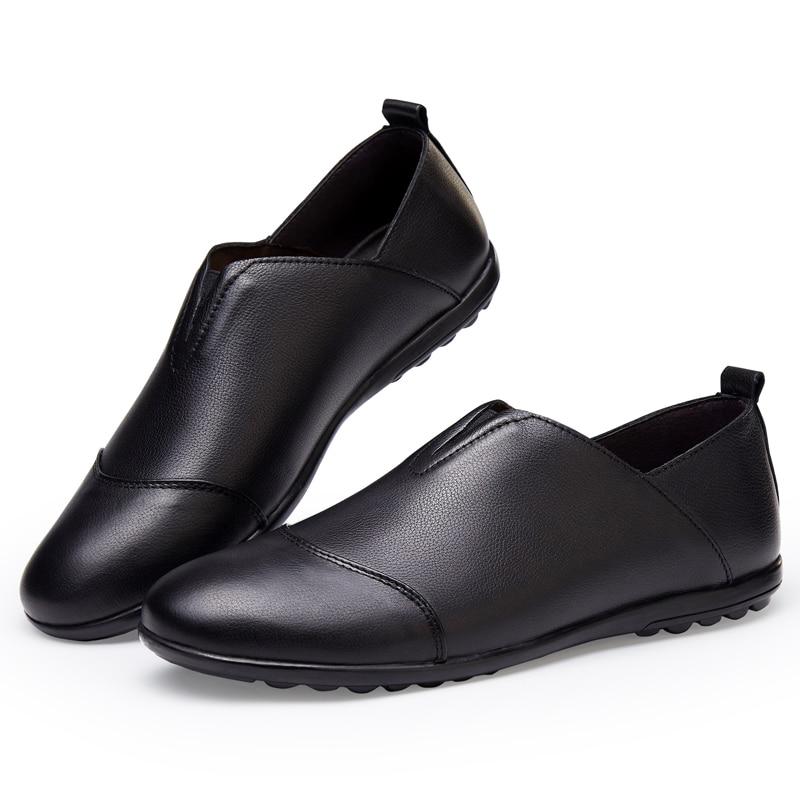Mens pantofi de moda din piele natural respirabil masiv pantofi - Pantofi bărbați - Fotografie 5