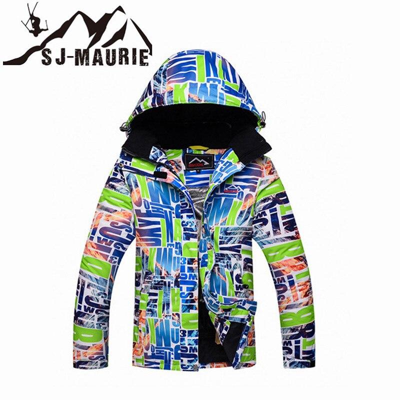 Veste de neige Ski Snowboard femme hiver imperméable coupe-vent veste de Snowboard chaude randonnée femme manteau épais lettre costume de neige