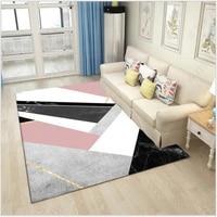 AOVOLL Nordic геометрический розовый черный мрамор ковер и пледы для спальня жизни ковер кухня коврики ковры спальня