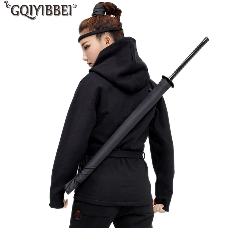 Romantisch Japanischen Ninja-wie Samurai Schwert Regenschirm Großen Winddicht Gerade Lange Griff Sonnenschirm Männer Manuelle Öffnen Schließen