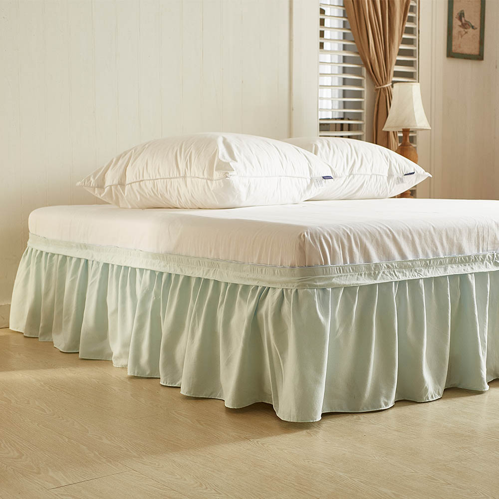 Bed Skirt Cover bedding set Solid color Bed Covers Twin Queen King sizes Elastic Band Bed Skirts ruffle 40cm Height Bedspread