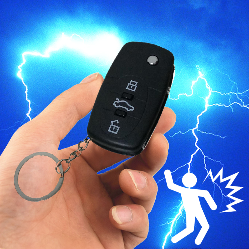 Mini Electric Shocking Car Key Party April Fools Day Tricks Joke Prank Toys