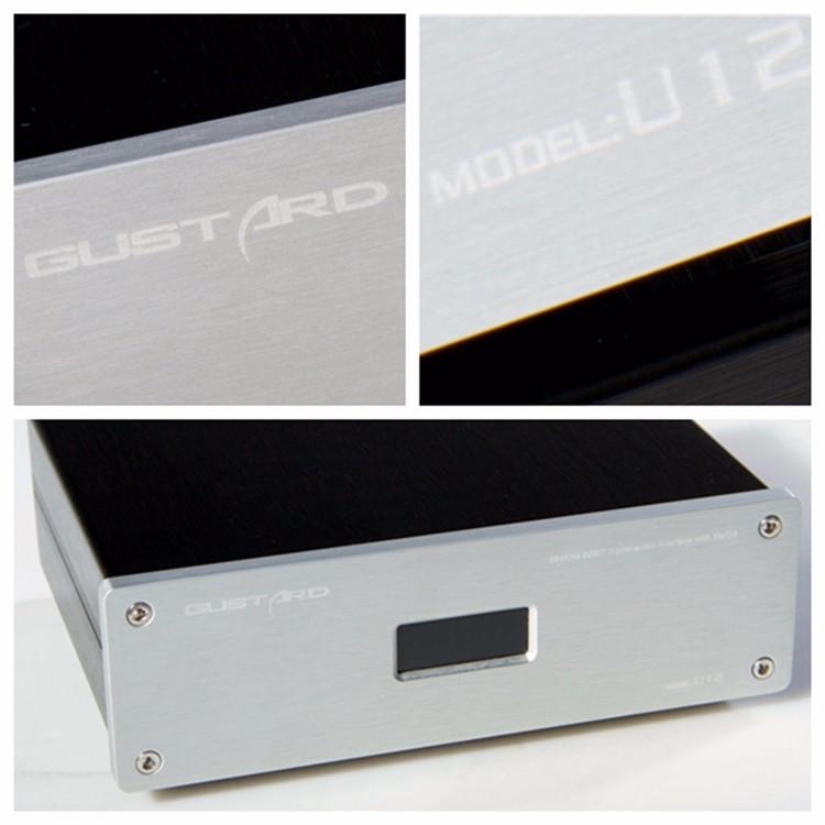 2016 Brand New GUSTARD U12 XMOS USB DAC Digital Audio Interface AESEBUCoaxialHDMI 0.1PPM Support 32Bit384KHZ DSD64DSD128 10