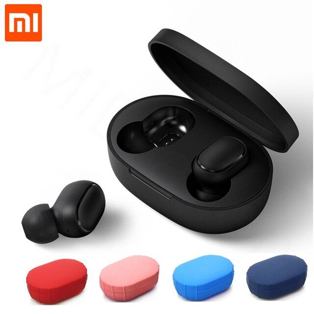 Xiaomi mi Red mi AirDots TWS Bluetooth 5,0 наушники беспроводной Голосовое управление шумоподавление стерео наушники Handsfree mi c