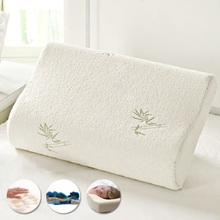 HOT Original Bamboo Fiber Pillow Slow Rebound Health Care Memory Foam Pillow Memory Foam Pillow Support The Neck Fatigue Relief