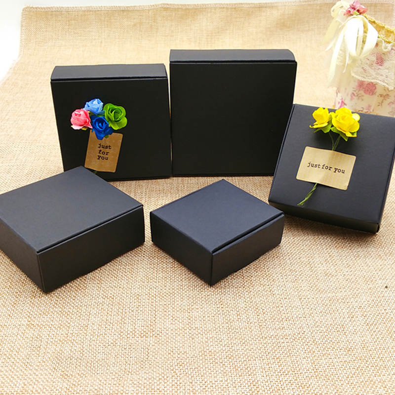 Us 78 85 5 Off Dhl 400pcs Lot Black Kraft Paper Wedding Candy Jewelry Box Packaging Party Small Gift Boxes Wholesale Handmade Soap Storage Box In