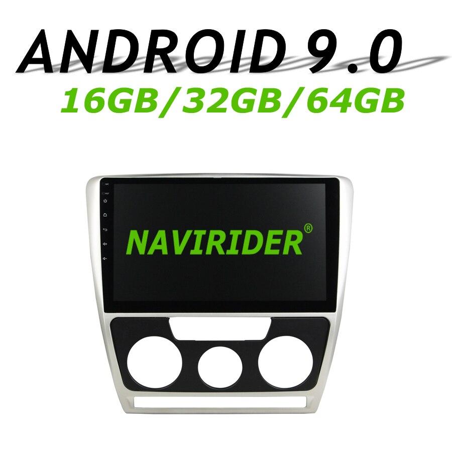Haute configuration Octa Core Android 9.0 voiture GPS multimédia pour SKODA Octavia 2007 2009 à autoradio bluetooth 64 GB grande mémoire