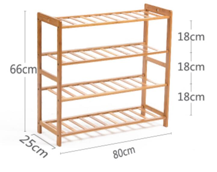 four layer bamboo wood shoe rack fashion living room shoe rack creative shoe storage holder in shoe cabinets from furniture on alibaba