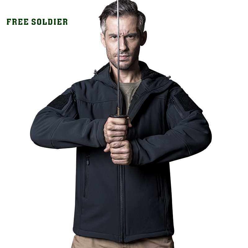 Jacket Free-Soldier Soft-Shell Hiking Coat Wind-Whisper Tactical Outdoor Water-Resistant