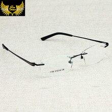 New Arrival Men Style Rimless Eye Glasses Fashion Men's Eyeglasses Stainless steel Optical Frame for men oculos sem aro