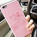 Pu couro casos panthera para iphone 7 7 plus 6 6 s 6 plus 6 splus softpink pantera cor de rosa de 4.7 polegadas Casca Dura cobre Livre grátis