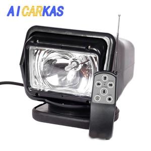 Image 1 - AICARKAS 12V 24V 35 ワット 55 ワット 70 ワット HID キセノン検索ライトワイヤレスリモートコントロール HID サーチライト 6000 用オフロード Suv 車のボート
