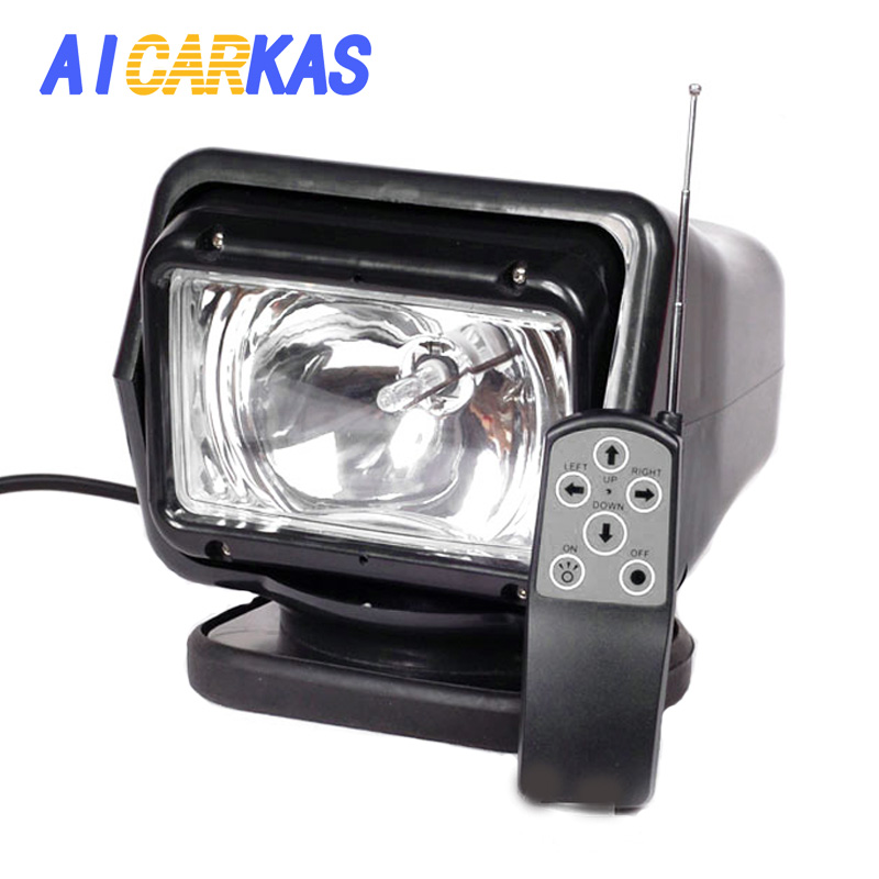 AICARKAS 12V 24V 35W 55W 70W HID Xenon Searching Light Wireless Remote Control HID Searchlight 6000K for Off road SUV Car Boat image