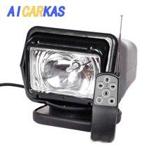 AICARKAS 12V 24V 35W 55W 70W HID زينون البحث الضوء اللاسلكية التحكم عن بعد HID كشاف 6000K ل الطرق الوعرة SUV سيارة قارب