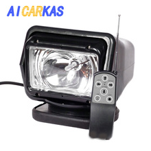 AICARKAS 12V 24V 55W 70W HID Xenon Searching Light Wireless Remote Control HID Searchlight 6000K for Off road SUV Car Boat