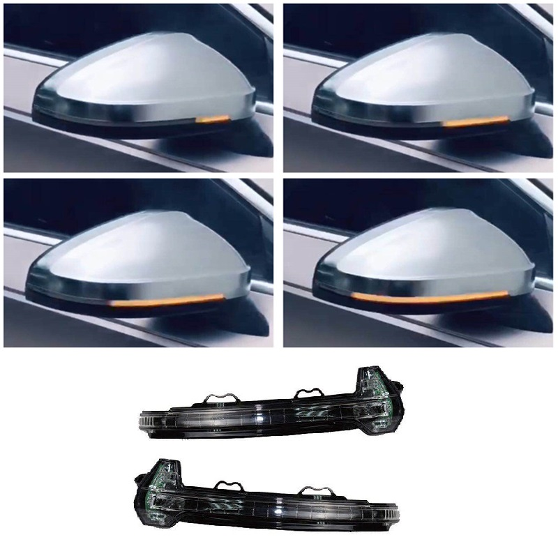 Dynamic LED Indicator Rear View Mirror Turn Light Signal Repeater Suitable for Audi A4 S4 B9 A5 S5 2016- Car Styling Accessories car styling turn signal lights car singal lamp 14 smd led arrow panels for car rear view mirror indicator lights yellow light