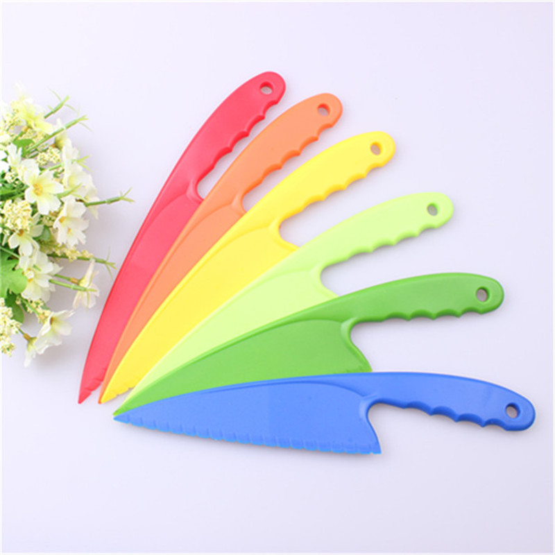 1pc 29 cm Plastic Dessert Knife with Serrated Edge Cake Mousse Bread Cutter Cake Tools Server Holder Wedding Party Baking Tools
