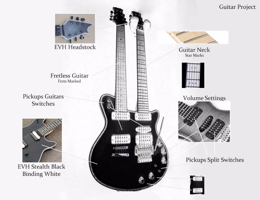 Guitare électrique à double tête sur mesure