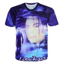 Rock punk michael jackson print 3d t shirt harajuku tee shirt Crewneck t-shirt tops plus size M-XXL camisetas Drop Shipping