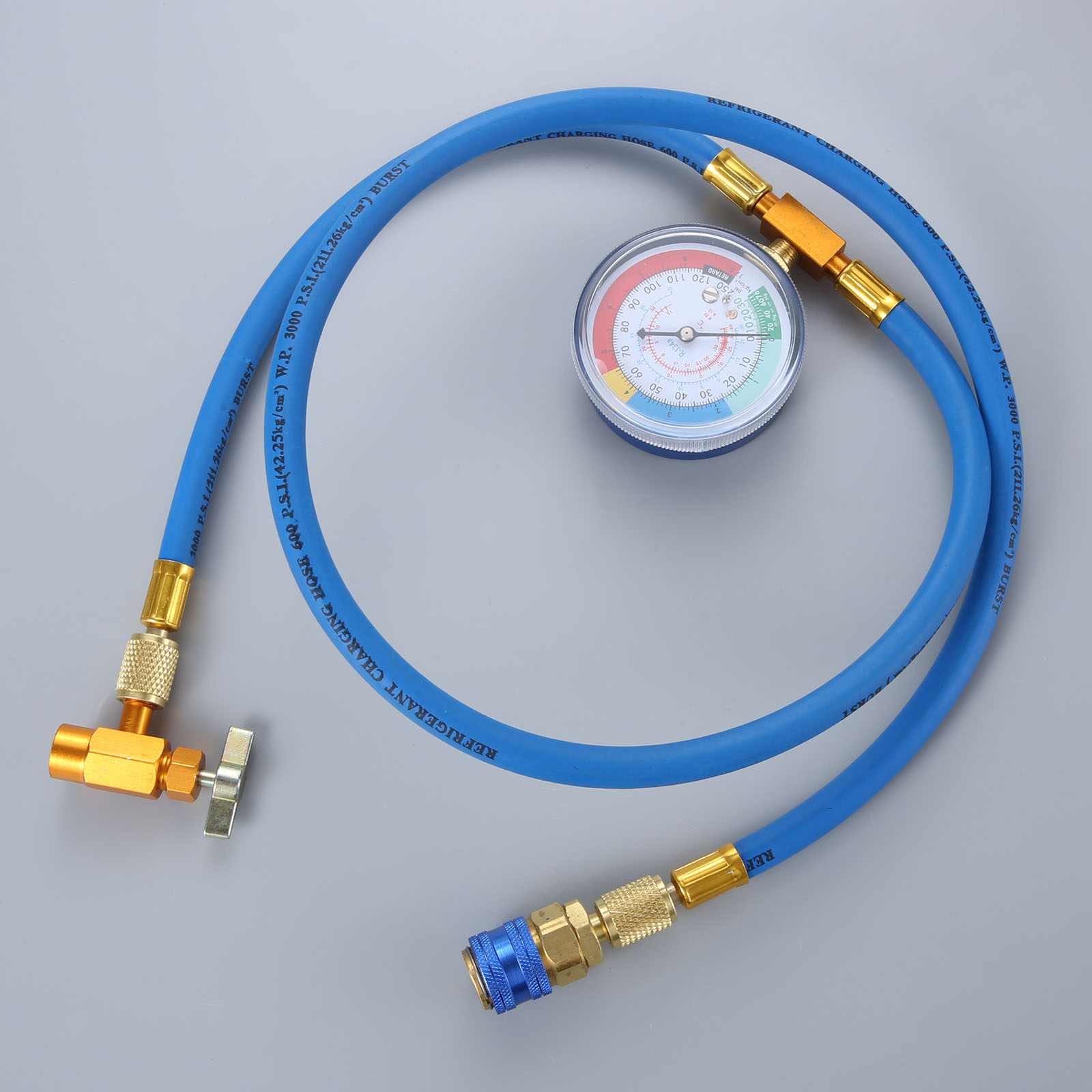 Image 2 - Car AC Air Conditioning R134A Conditioning Refrigerant Recharge Hose w/ Pressure Gauge Can Opener Quick Coupler-in Air-conditioning Installation from Automobiles & Motorcycles