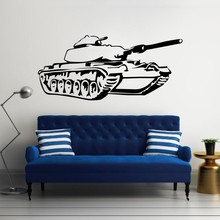 Army Tank Children Bedroom Art Decor Wall Sticker Vinyl Decals Military Removable For Home Mural Y-636