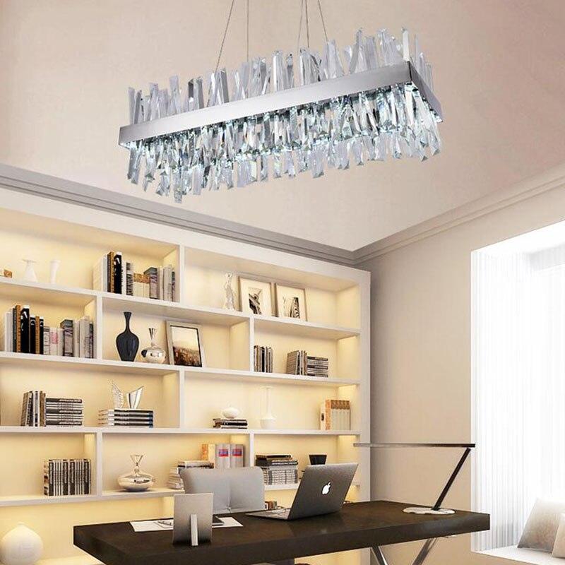 Luxury design modern crystal chandelier LED light AC110V 220V luster  cristal chrome dining room living room lamp