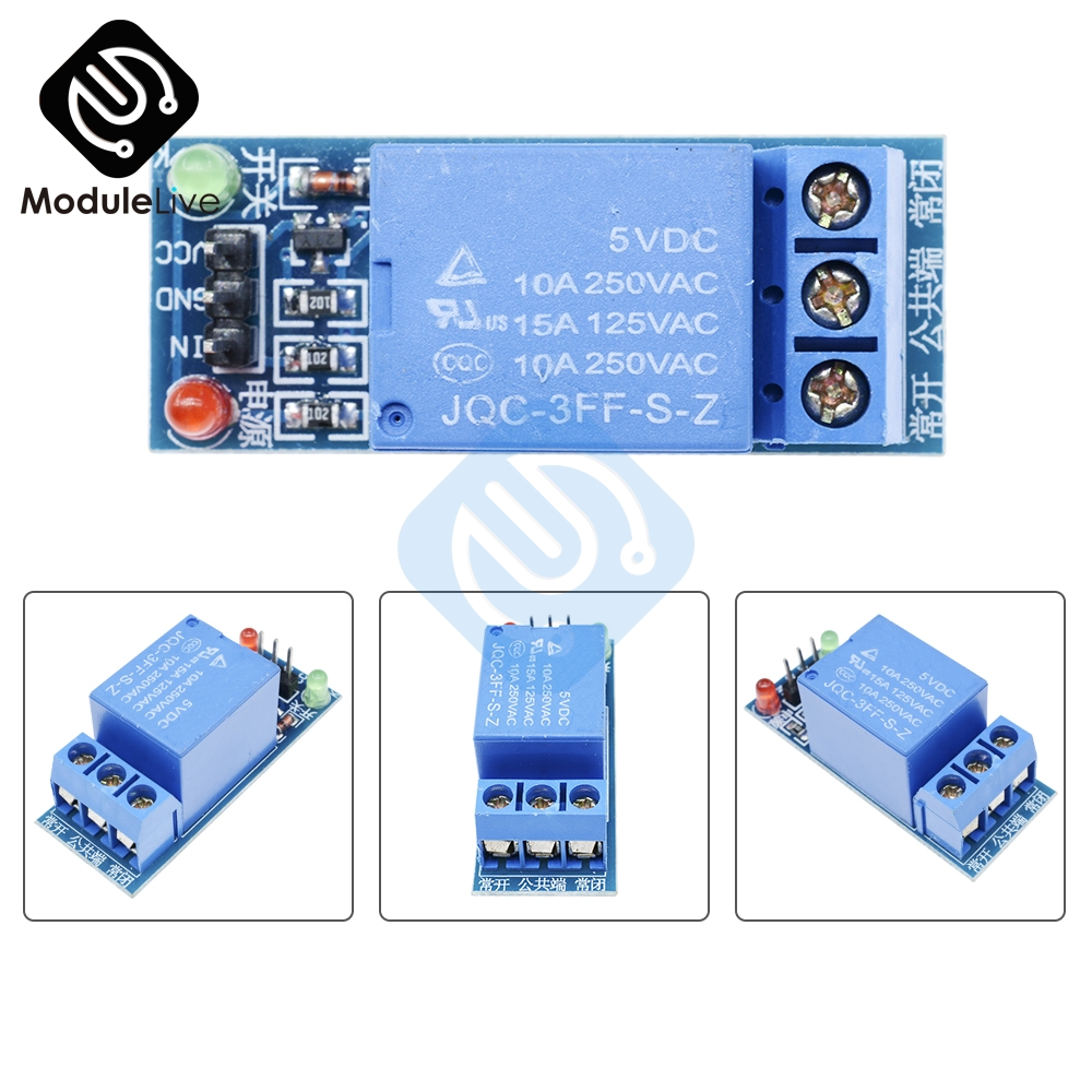 1CH 1 Channel Relay Module Interface Board Shield For Arduino 5V Low Level High Level Trigger One PIC AVR DSP ARM MCU DC AC 220V