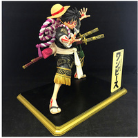 18 CM ONE PIECE Kabuki Ver Monkey D Luffy with Straw Hat Figurine Dolls Toys PVC Action Figure Collection Model Toy H501
