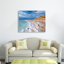 Laeacco Canvas Calligraphy Paintings Sea Beach  Posters and Prints Wall Artwork Pictures Bedroom Decor Home Decoration