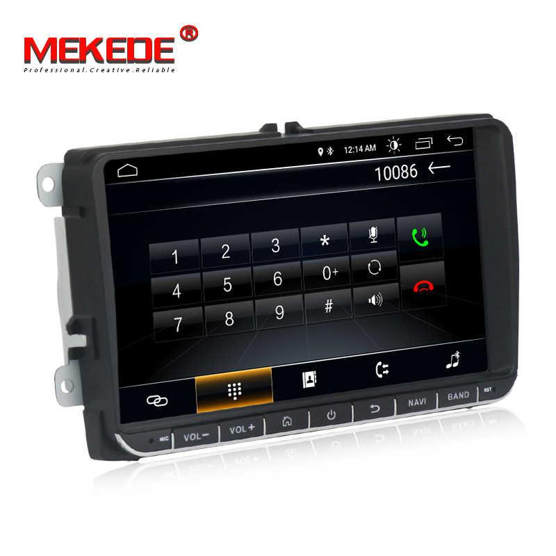 Mekede carro reprodutor multimídia 2 din carro dvd para vw/volkswagen/golfe/polo/tiguan/passat/b7/b6/seat/leon/skoda/octavia rádio gps dab