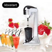 220V Electric Milk Frother Portable Food Blender Coffee Blender Mixing Blender Multifunctional Food Maker Milkshake EU Plug