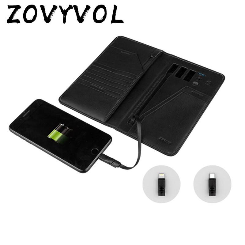 ZOVYVOL 2019 petit portefeuille magique téléphone USB pour charger le portefeuille paquet de passeport adapter pour Ipone et Android capacité 10000 mAh