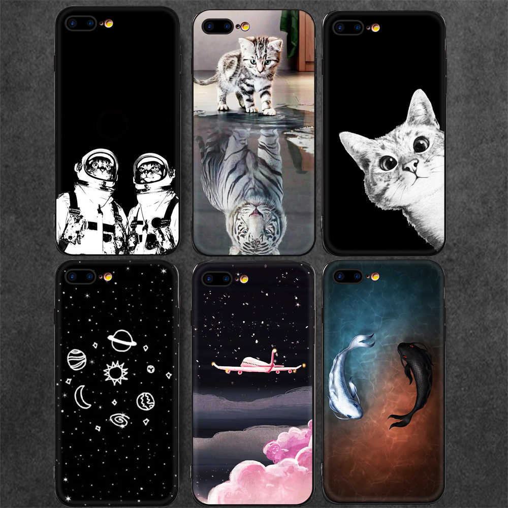 Cartoon Animals Cat Pattern Phone Case For iPhone XS Max XR X 7 6 S 6S 8 Plus 10 Smart Cover Soft TPU Coque Painted Cases