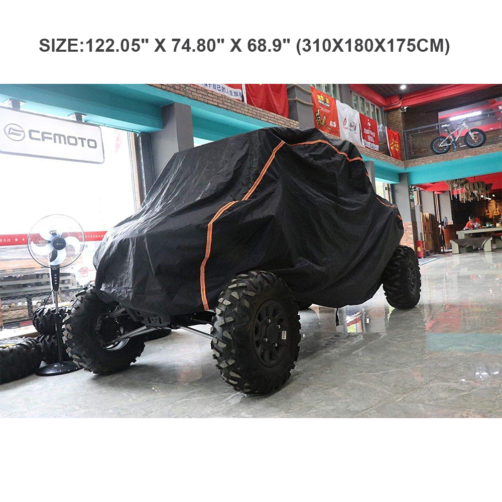 UTV Cover RZR Storage Cover Protect Farm vehic 4X4 Vehicle from Rain Snow Dirt Rays Reflective