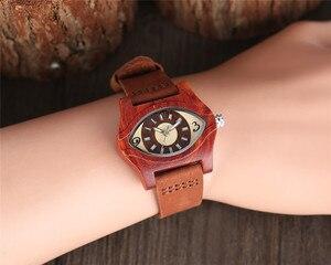 Image 5 - Женские часы с деревянными браслетами, женские этнические винтажные кварцевые часы из натуральной кожи, женские мужские наручные часы из бамбука