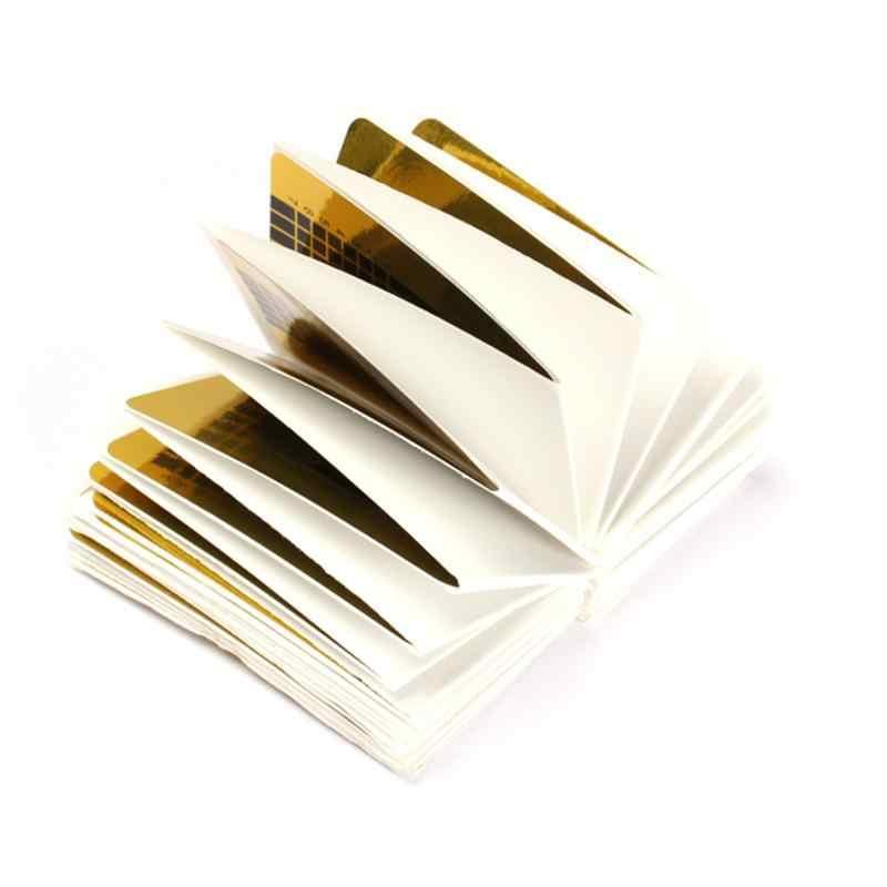 100 Pcs Professionale Francese Unghie, Sagome Punte Acrilico Curve Del Chiodo di Estensione Unghie Artistiche Guida Form per La Nail Polish Guida