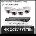 4MP HIK 1080 P HD Sistema de Câmera de Segurança 48 V 4 POE NVR Com 4 pcs 1920*1080 ONVIF POE Câmera IP 4CH CCTV de Vigilância de Vídeo 4 K 2 K