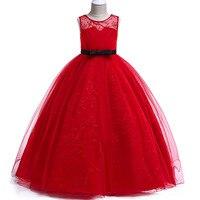 bccd2076c7673c Long Party Girl Dress Flower Girl Dress Kids Costume Princess Wine Red  Wedding Dress Children S