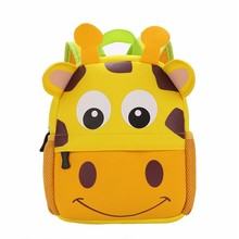 3D Cute Animal shaped Backpacks Neoprene Kids School Shoulder Bags Cartoon Dog Monkey Tiger Shape Children