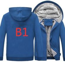 Новые зимние B1 автомобилей логотипы печати толстовки для мужчин модные утепленные куртки на молнии хип-хоп спортивная одежда Кофты Для мужчин Пальто Harajuku