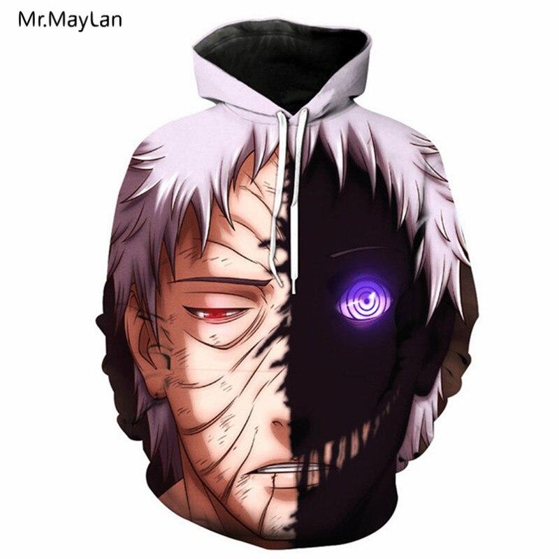 Classic Anime Naruto Uchiha Obito 3D Print Jackets Men/Women Hiphop Streetwear Sweatshirts Boys Hipster Jackets Clothes Harajuku