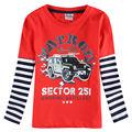 One piece retail Novatx brand 2y/6y crianças da camisa de t para o bebê menino t-shirts longas sleeveboys roupas da moda crianças roupas