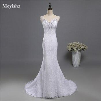 9024 2016 rendas branco marfim A – linha vestidos de casamento para noivas vestido plus size maxi formais cliente fez com trem tamanho 2 – 28 W