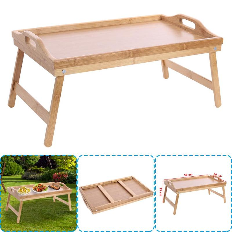 Wooden Lap Tray Breakfast In Bed Serving With Folding Legs Table Mate Wipe Classic Brown Foldable Stand Breakfast Serving