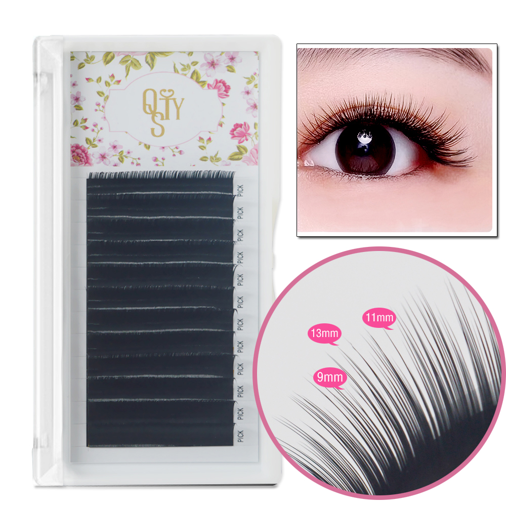 New Camellia Volume Lashes Pandora Eyelashes 3D-6D 0.07MM, Multiple Lengths in One Strip Faux Mink Eyelash Extension natural eye