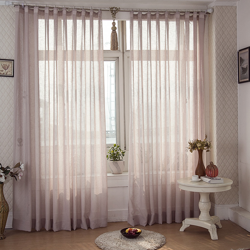 (270cm Wide) 2015 Hot Sale American Country Style Sheer Curtain Voile  Curtain Window Curtain