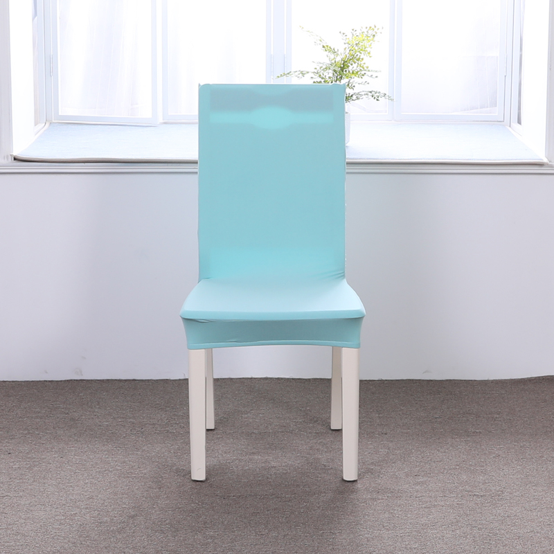 Sky Blue Solid Color Spandex Elastic Dining Chair Slipcover Modern