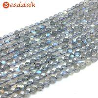 AA качество натуральный лунный камень синего цвета лабрадорит камень круглые бусины 4 мм 5 мм 6 мм 7 мм 8 мм DIY материал для изготовления украшен...